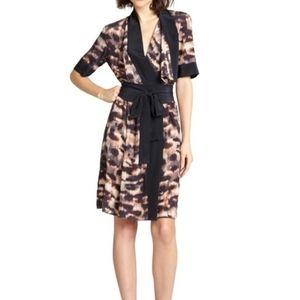 BCBG MaxAzria Plum Walena silk dress size Medium